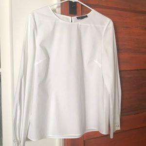 White Banana Republic cotton blouse
